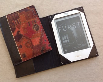 E reader, Kobo case, leather e reader case, book style case, padded case, e reader case