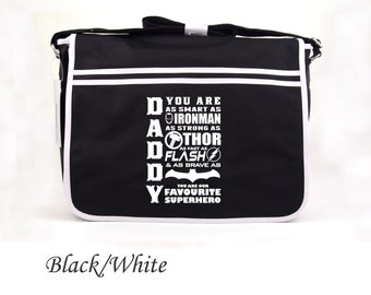 Super Daddy Favorite Superhero Father's day birthday gift batman thor iron man  Gift Present Birthday Messenger bag