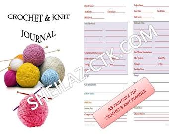 PRINTABLE Crochet-Knit Planner