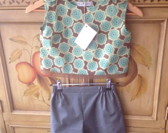 50s Shorts & Top Pattern size 6