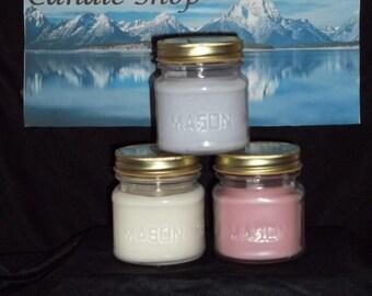 Mason Jar Soy wax, scented candle