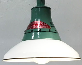 "Industrial Pendant Light Fixture with 14"" Reflector"