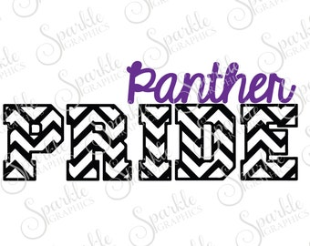 Panther Pride Cut File  Panther svg  Panther Mascot svg High School Clipart Svg Dxf Eps Png Silhouette Cricut Cut File Commercial Use