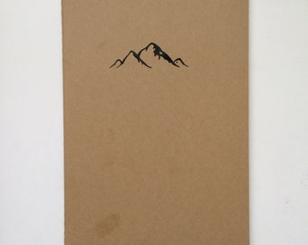 Hand-Drawn Moleskine® Journal- Mountains