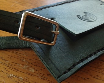 Unique Leather Luggage Tag