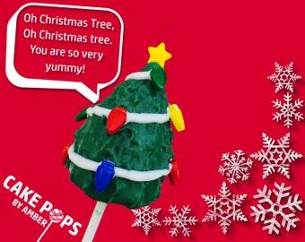 Christmas Tree Cake Pops - Half Dozen