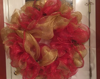 Red/Gold 36 Inch Wreath
