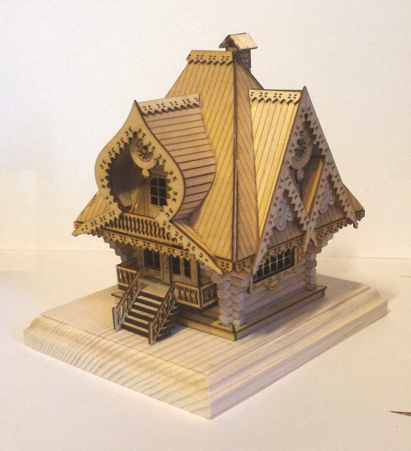 3d Model Kit House Wooden Constructor By Kareliashop On Etsy
