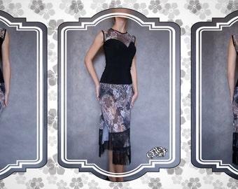 Latin dance dress (top+skirt). S –size. Ready to ship.