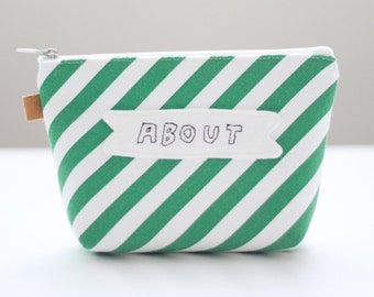 ABOUT Embroidery Makeup Bag Zipper Pouch Canvas  Cosmetic Bag Durable Pouches