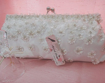 Bridal clutch, floral clutch, bridesmaid clutch, wedding clutch, satin clutch, crystal clutch, ivory clutch