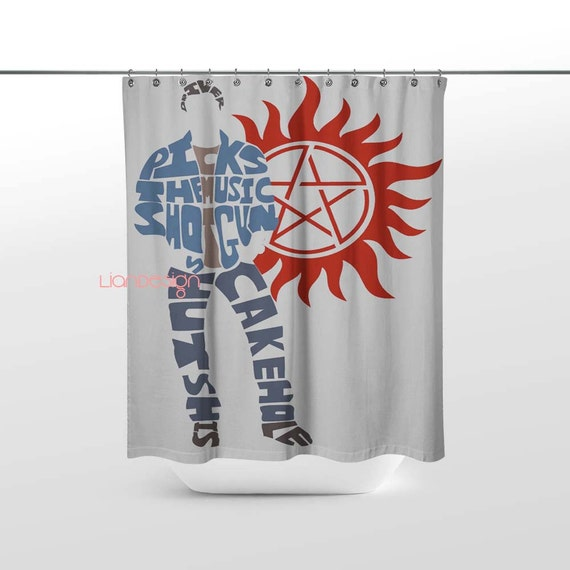 Dean winchester supernatural shower curtain by liandesign for Household design 135 curtain road