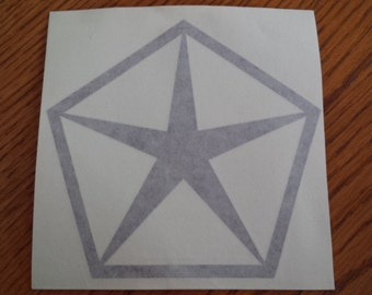 Chryslet Pentastar Decal