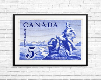P105 Large Art: Canadian Poster, Exploration, Explorers, Adventure Time, Canadian Art, Made in Canada, Canadian History, Historical Prints