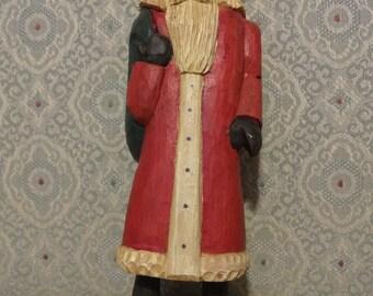 Hand Carved Vintage Santa Claus