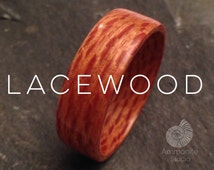 Lacewood Ring - Handmade Natural Organic Bentwood Wooden Artisan Ring Alternative Wedding Ring