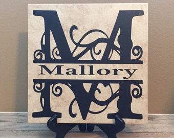 Personalized Tiles Established Sign Wedding Gifts Last Name