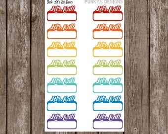 "Dark Rainbow Meal Stickers - ""Let's Eat!"""