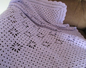 lavender lace baby afghan