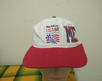 Rare Vintage FIFA WORLD Cup USA 94 Team Mexico Cap Hat Free size fit all