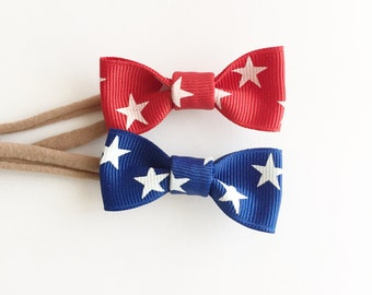 Patriotic 4th of July bow headband