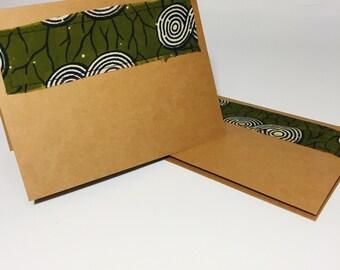 African Print Blank Card // Greeting Card // Holiday Card