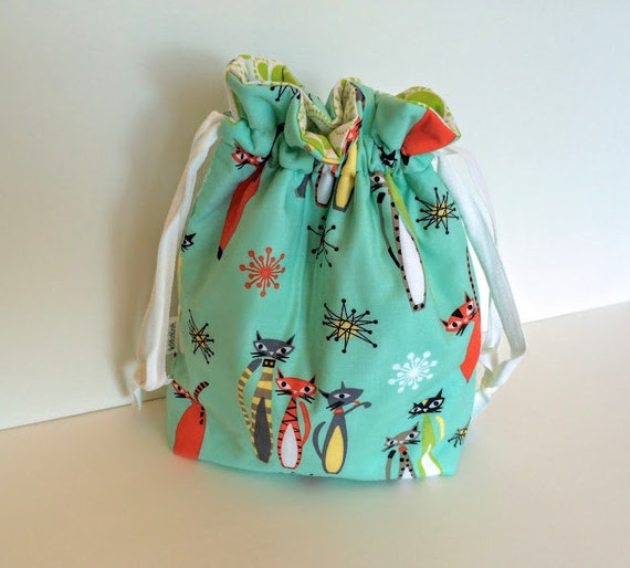 Knitting Project Bags Uk : Sock project bag knitting drawstring by