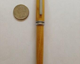 Hand Turned Wood Designer Twist Pen, Osage Orange Wood, Satin