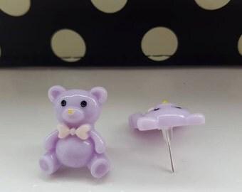 Teddy Bear Kawaii Cute Stud Earrings