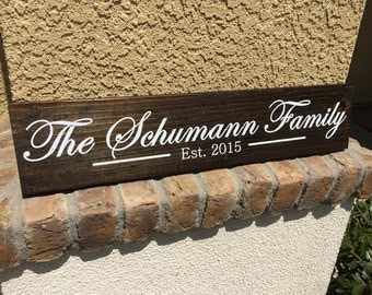 Family Established wood sign wedding gift, anniversary gift, house warming gift!