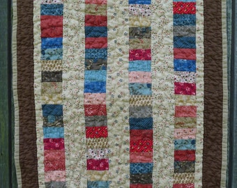 """Brown Charming Coins Doll Quilt 21.5"""" x 17.5"""""""