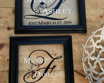 His & Hers Frame Plaque with Est Date