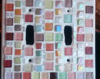 Mosaic double switch plate