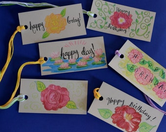 Flower Gift Tag Set-Birthday and Special Occasion