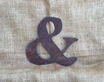 "tin ampersand, 6"" tin ampersand, rustic ampersand, rustic wedding decor, rusty ampersand, ampersands, rustic wedding decor, wedding gifts,"