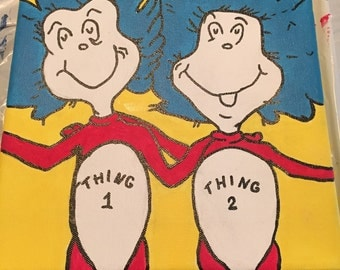 Thing one and thing two from Dr. Seuss!