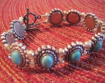 """Dual String """"Victorian"""" Handmade Beaded Bracelet- Made by me in USA"""