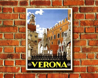 Verona Italy Travel Poster - #0604