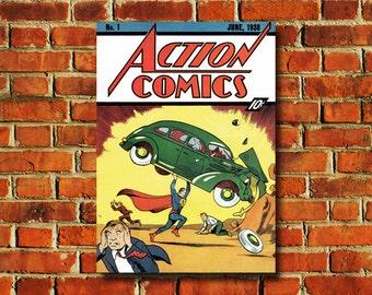 Superman #1 Comic Book Cover Poster - #0718