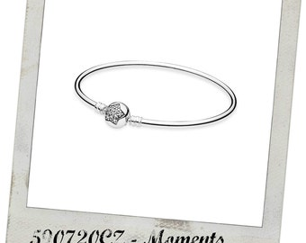 New! Authentic Pandora Sterling Silver You're A Sparkling Star Bangle Bracelet # 590720CZ  Free Box