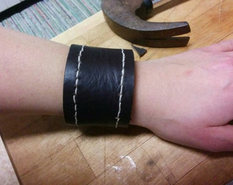 Rustic Leather Wrist Cuff