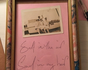 Vintage Style frame with photograph and quote