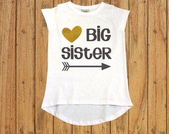 big sister announcement shirt. Glitter Big Sister Shirt. Big Sister Gift. big sister little sister. Funny Toddle Shirt. Pregnancy announce