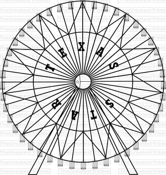 Ferris wheel clip art black and white