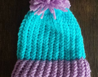 Blue and Purple Baby Hat
