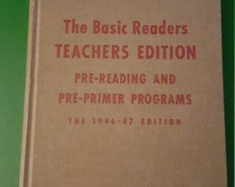 1946 Basic Readers Teacher's Edition