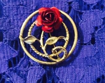 Vintage Rose Brooch