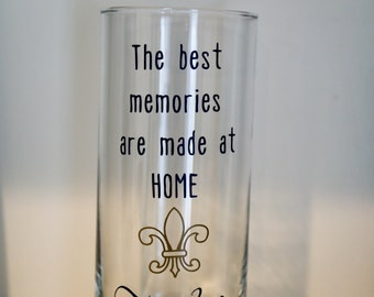 Customized Vase, Personalized Vase, Round vase