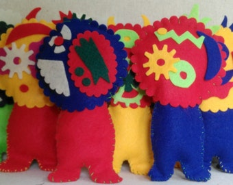 HooDoodle Monster-B-Gone Voodoo Doll & Good Luck Charm, How to Get Rid of Monsters Under the Bed or In the Closet, Kid's Monster Doll