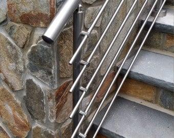 Modern Stairs Balcony Backyard Porch Patio Hand Rail Staircase Railing Kit - Aluminium